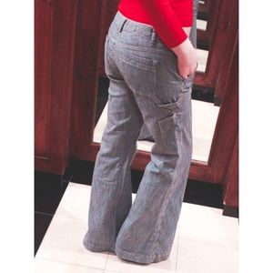 Bell Bottom Stripped Pants